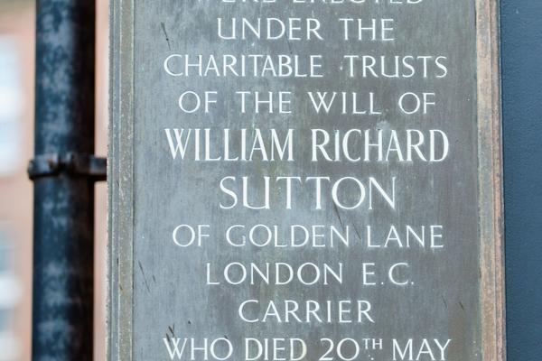 William Sutton plaque