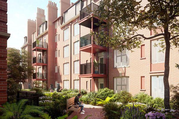 Sutton Estate garden court view