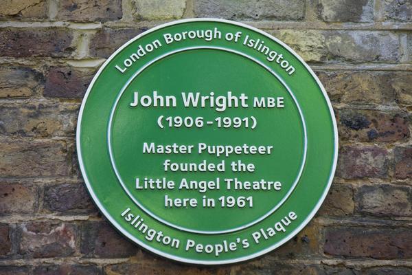 Green Plaque for founder John Wright