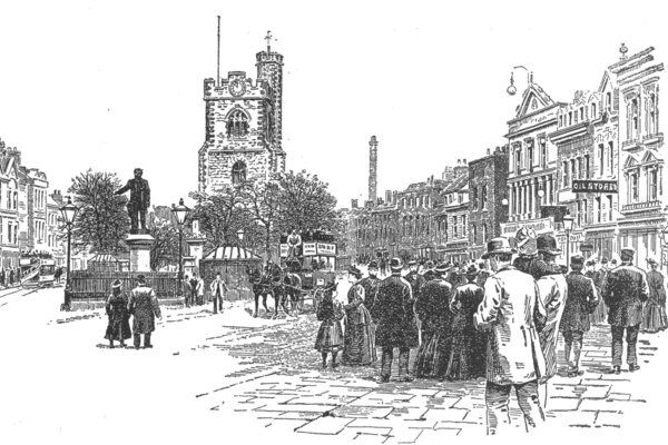 Bow Church in 1896
