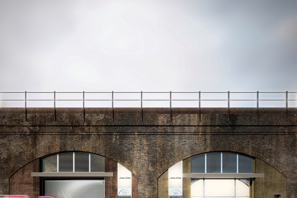Render of facade of Ewer Street Arches