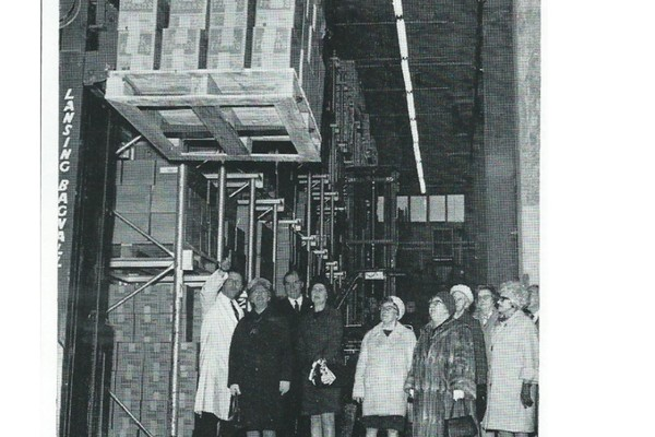The Warehouse in use (reproduced from the Peek Frean's Staff Magazine, March 1970)