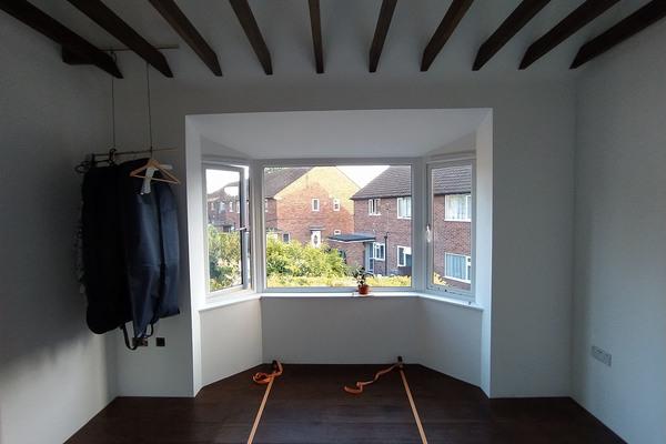 South bedroom after floor instalation