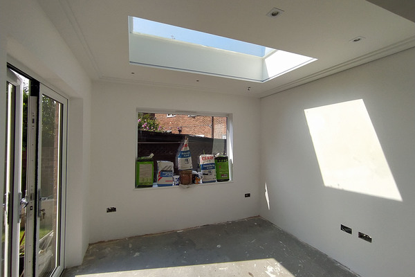 Extension with a skylight