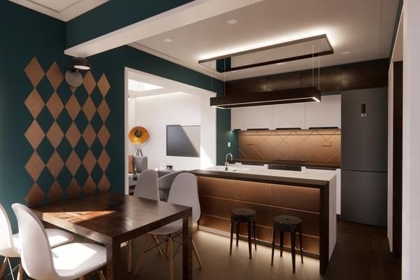 Visual - Kitchen/dining/hall area