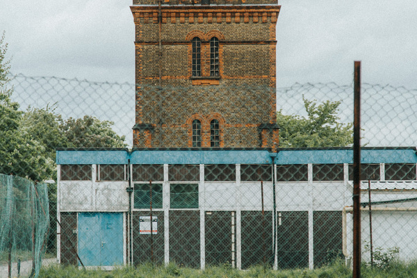 View of Water Tower, looking north from the south-west corner of the site