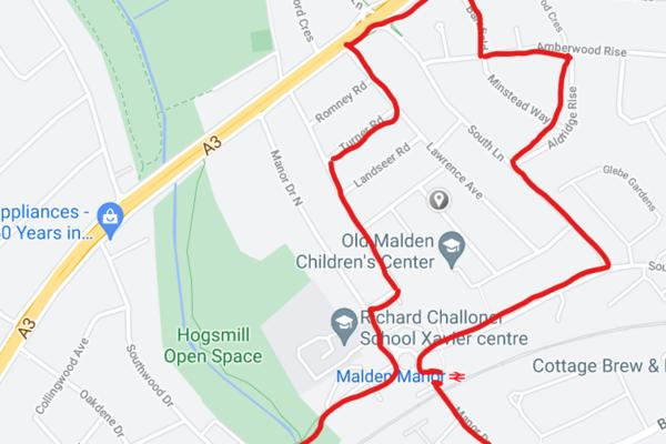Old Malden Walking Route