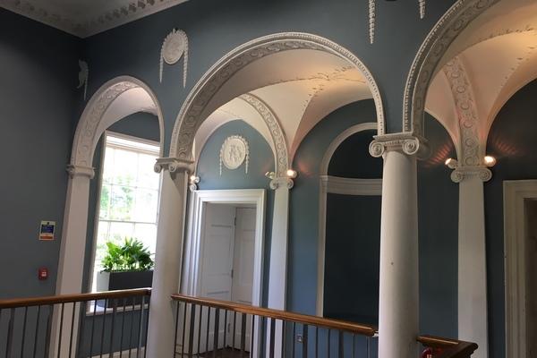 V22 Manor House Library Interior