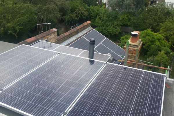 Solar Panels view to the rear