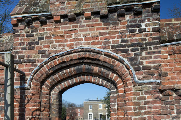 Tudor archway  to walled garden