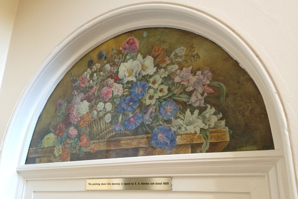 Original artwork by E.A. Bowles set above the old Drawing Room doorway