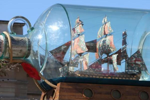 Nelson's Ship in a Bottle by Yinka Shonibare