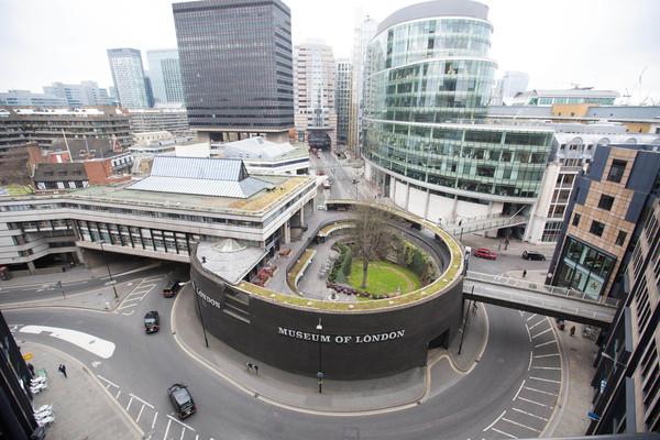 Museum of London aerial shot