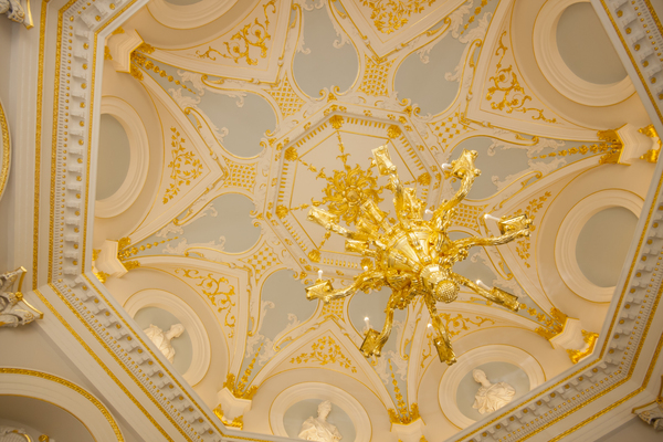 The restored Octagon Room ceiling