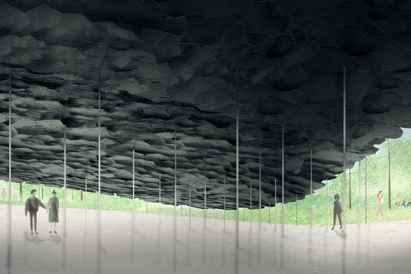 Serpentine Pavilion 2019, Design Render, Interior View