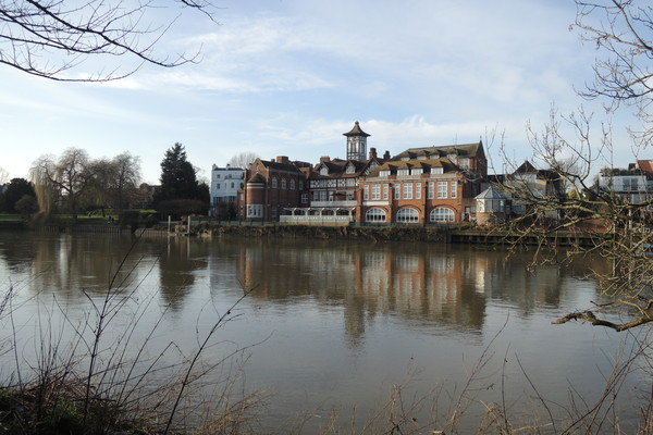 Radnor House School from the River Thames