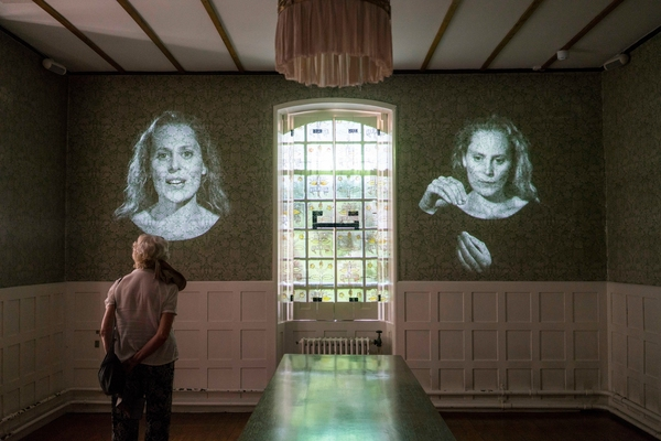 'A poem of a house' film installation in the Dining Room at Red House