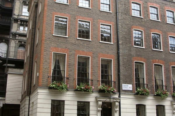 View from corner of Craven Street