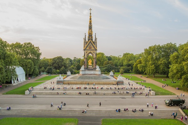 View of the Albert Memorial from the Hall's roof