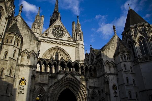 The Royal Courts of Justice entrance