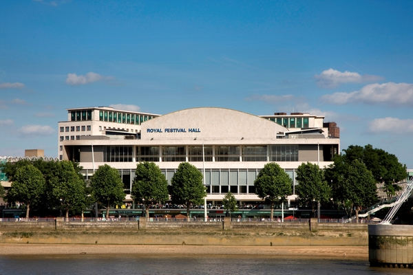 View of the Royal Festival Hall from the River Thames