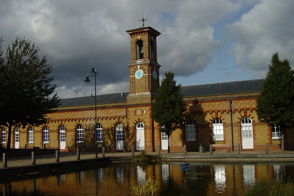 The clocktower & canal basin