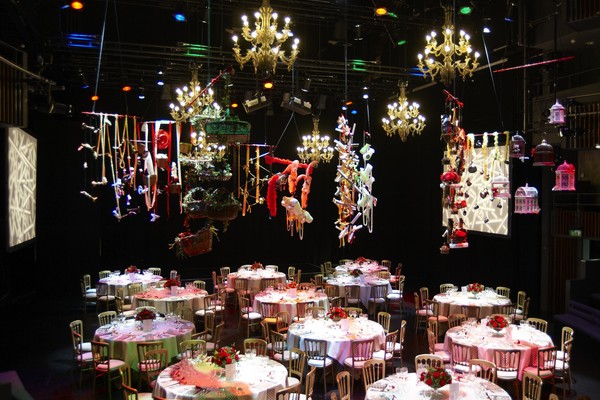 View of Weston Theatre stage during Gala dinner
