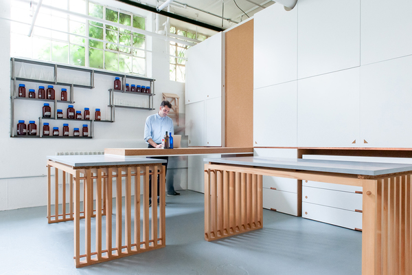 View of joinery and workstations