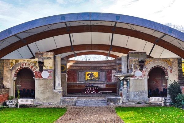Chancel, apse and memorial garden