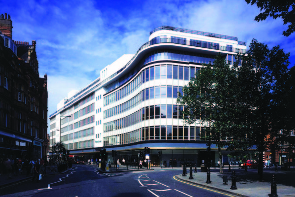 View of 'curtain wall' from Sloane Square
