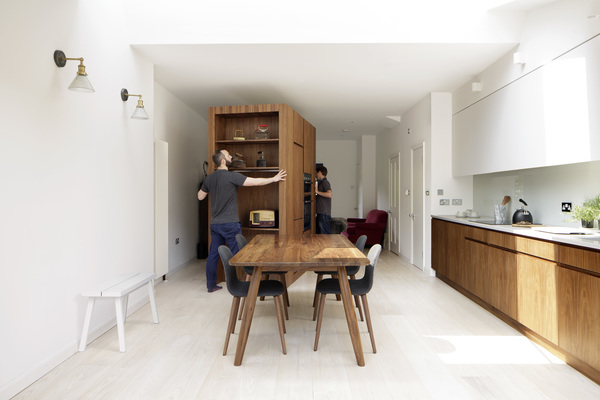 View of moveable kitchen furniture 2