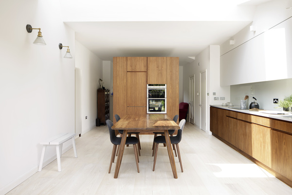 View of moveable kitchen furniture