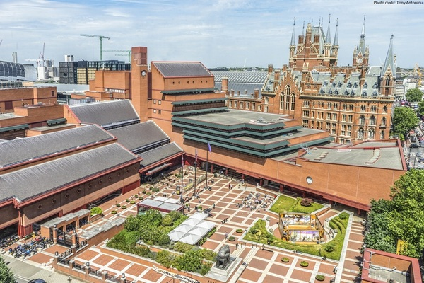 View of British Library courtyard