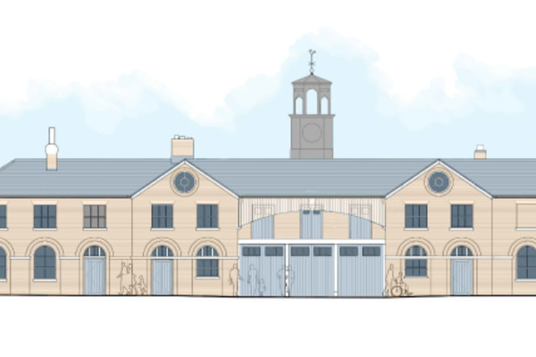 Front elevation, Stable Block