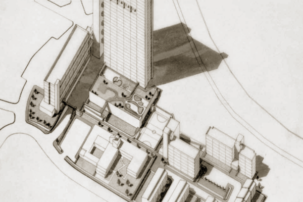 Drawing of Trellick Tower