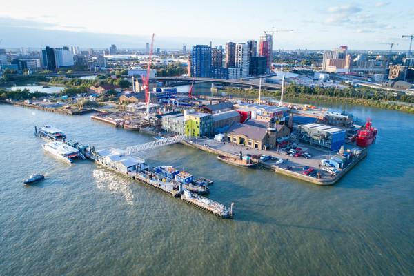 Trinity BUoy Wharf aerial view