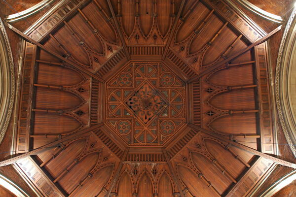 Timber ceiling of the chapel