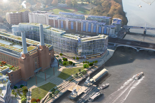CGI of the completed Battersea Power Station development