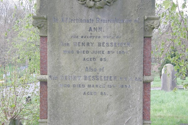 Sir Henry Bessemer grave