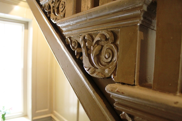 Georgian decoration on central staircase