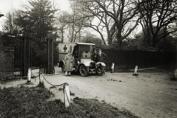 Highams,Woodford Green, WW1 Ambulance
