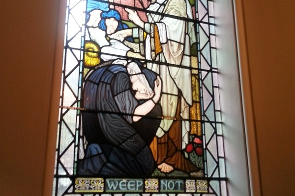 Walter Craven window 'weep not'