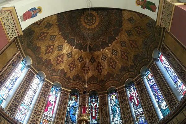 Ceiling mosaics in Apse