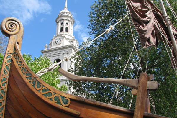Viking Ship at St Alfege Millennium Celebrations 2012