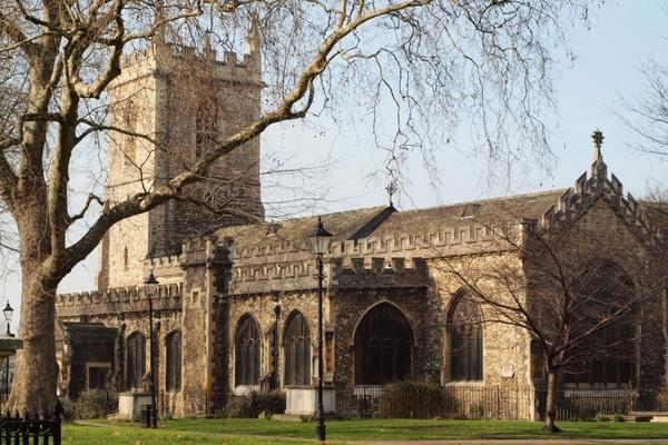 St Dunstan's and churchyard