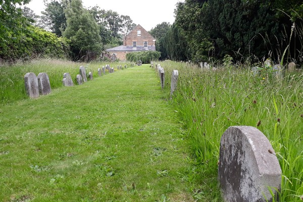 Burial ground looking north
