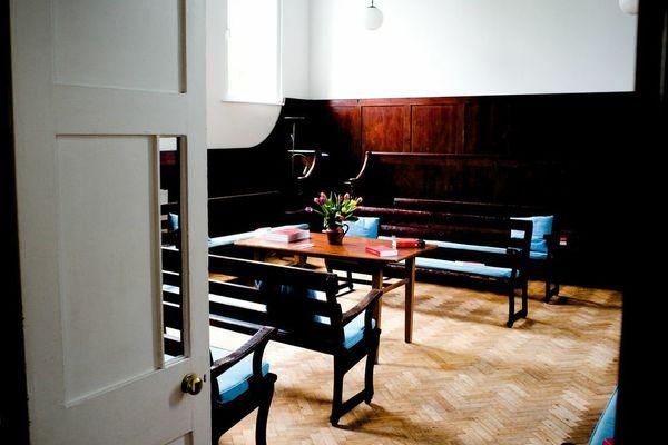 Meeting House inside through doorway