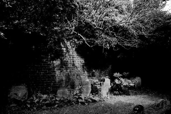 North burial ground black and white