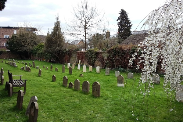 View of burial ground