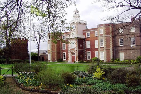South facade of Bruce Castle, from the Memorial Garden